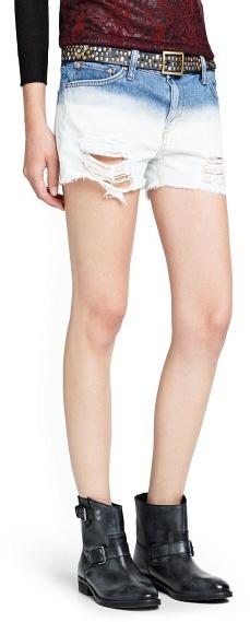 Ombra Mango Outlet Denim Shorts