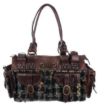 Dolce & Gabbana Leather-Trimmed Tweed Satchel