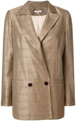 Ganni check double-breasted blazer