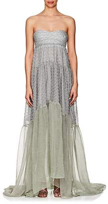 Missoni Women's Metallic Knit Strapless Gown