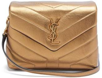 Saint Laurent Loulou Toy Metallic Leather Bag - Womens - Gold