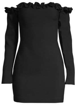 LIKELY Rumi Ruffle Off-The-Shoulder Mini Sheath Dress