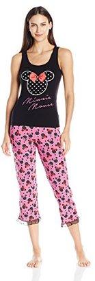 Disney Women's Minnie Mouse 2-Piece Pajama Set $48 thestylecure.com