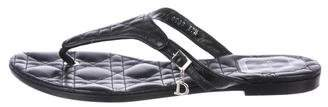 Christian Dior Quilted Leather Sandals