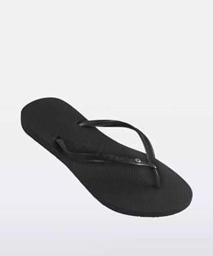 Havaianas Slim Sw Thongs Black Black Thong
