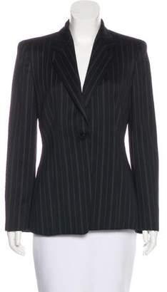 Armani Collezioni Wool Pinstripe Blazer