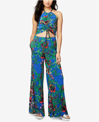 Rachel Rachel Roy Printed Cutout Jumpsuit, Created for Macy's $149 thestylecure.com