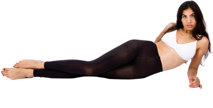 American Apparel Opaque Footless Pantyhose