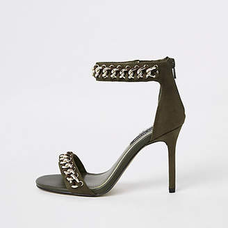 River Island Khaki chain barely there sandals