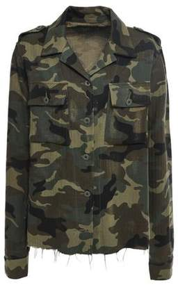 Amiri Printed Cotton And Cashmere-blend Jacket