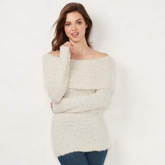 Lauren Conrad Women's Off-the-Shoulder Sweater