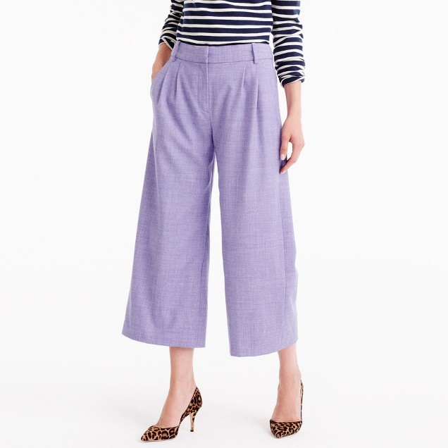 J.Crew Cropped pant in heathered wool flannel
