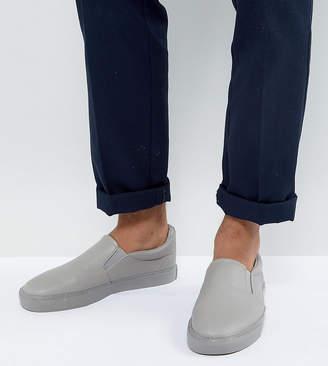 Asos Wide Fit Slip On Sneakers Gray Block