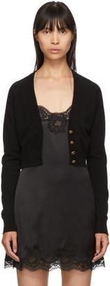 Dolce & Gabbana Black Cashmere Cardigan