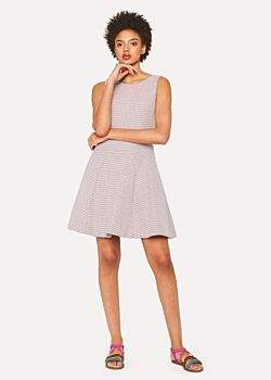 Paul Smith Women's Pink Jacquard Cotton-Blend Dress