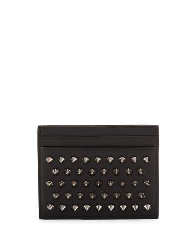 Christian Louboutin  Christian Louboutin Kios Simple Card Holder, Black/Gunmetal