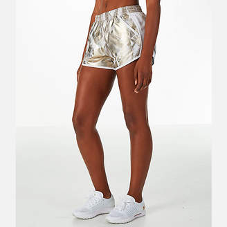 Under Armour Women's Fly-By Metallic Printed Running Shorts