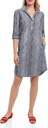 Foxcroft Crinkled Gingham Shirt Dress