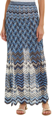 BCBGMAXAZRIA Pointelle Maxi Skirt