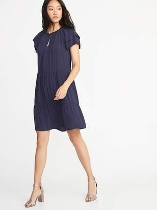 Old Navy High-Neck Ruffle-Trim Swing Dress for Women