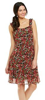 K Studio Chiffon Floral Print Dress