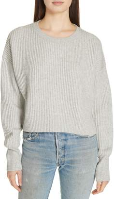 RE/DONE Wool & Cashmere Crop Sweater