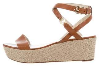 Michael Kors Leather Platform Espadrilles