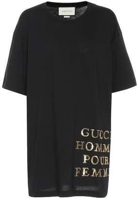 Gucci Sequined cotton jersey T-shirt