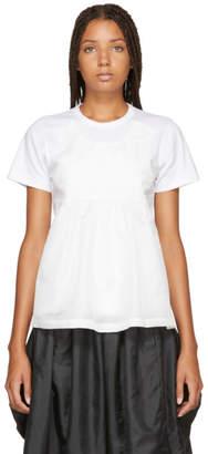 Comme des Garcons White Taffeta Tank Panel T-Shirt