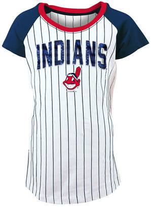 5th & Ocean Cleveland Indians Sequin Pinstripe T-Shirt, Girls (4-16)