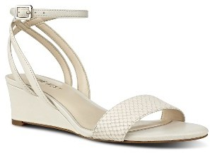 Women's Nine West Lewer Embossed Wedge Sandal $78.95 thestylecure.com
