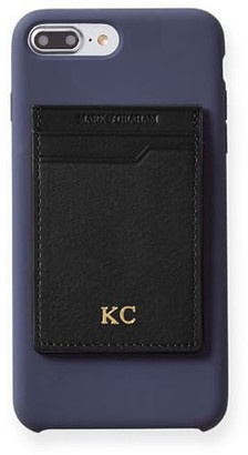 Mark And Graham Leather Phone Sticker Card Case, Foil Debossed