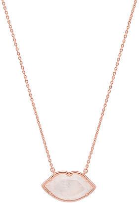 Elizabeth Stone Gemstone Lips Necklace