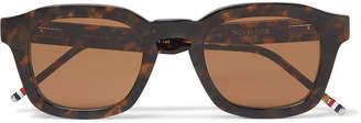 Thom Browne 412 Square-Frame Tortoiseshell Acetate Sunglasses