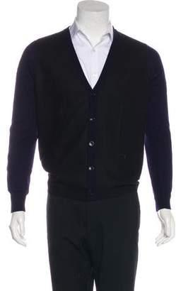 Maison Margiela Virgin Wool-Trimmed Cardigan