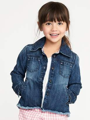 Old Navy Raw-Hem Denim Chore Jacket for Toddler Girls