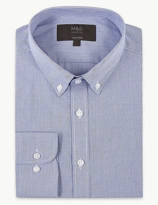 Marks and Spencer Cotton Blend Tailored Fit Shirt