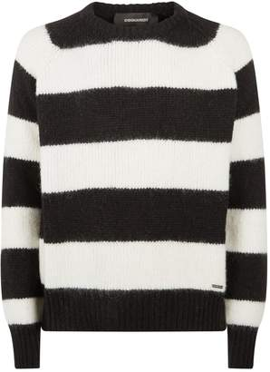 DSQUARED2 Stripe Mohair Sweater