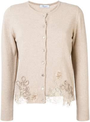Blumarine embellished lace cardigan