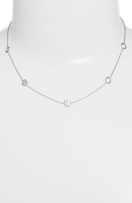 Nordstrom Bezel Stone Station Necklace