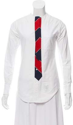 Thom Browne Long Sleeve Button-Up Top