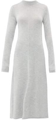 Joseph Merino Wool Midi Dress - Womens - Grey