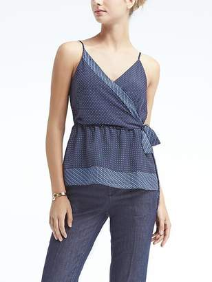 Banana Republic Easy Care Dot Wrap Tank