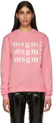 MSGM SSENSE Exclusive Pink Sweatshirt