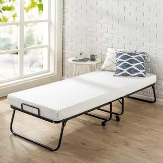 Zinus Roll Away Folding Guest Bed with 4 Inch Comfort Foam Mattress, Twin