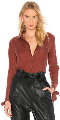 Line & Dot Rue Grommet Shirt In Rust in Rust $74 thestylecure.com