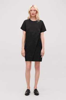 Cos DRESS WITH OVERLAP FRONT