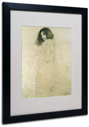 "Gustav Trademark Global Klimt 'Portrait of a Young Woman 1896-97' Matted Framed Art - 20"" x 16"""