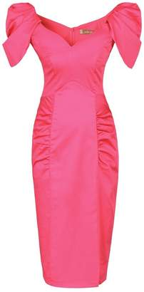 Dorothy Perkins Womens *Jolie Moi Cerise Puff Shoulder Pencil Dress