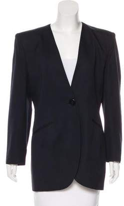 Christian Dior Collarless Structured Blazer
